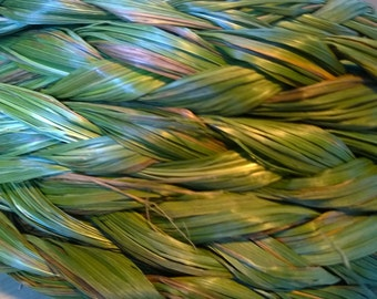 "24 "" Sweetgrass Braid Incense meditation buffalo grass holy weed smudging smudge sweet grass"