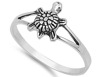 Baby Turtle Ring Sterling Silver 925