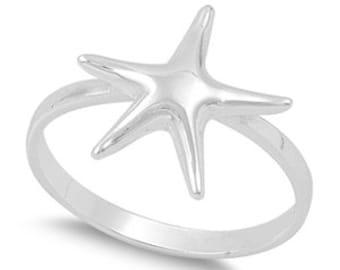 Starfish Ring Sterling Silver 925
