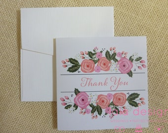 Floral Thank You Cards 10 Pack