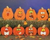 Halloween Pumpkin,Jack O Lantern 3,Outdoor Wood Yard Art,Halloween Decor,Halloween Yard Art, Halloween Pumpkins