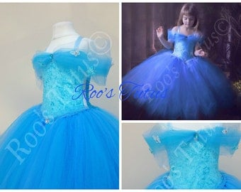 Cinderella inspired dress deluxe,tutu dress costume (Handmade) princess dress up