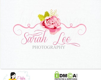 Premade Custom Rose Photography/ Small Business Logo Design/ Watercolor Logo – LD028