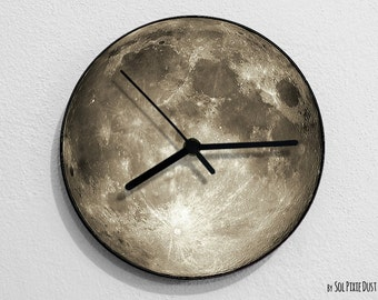 Grey Moon - Moon Wall Clock