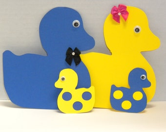 Die Cut Duck Family-Die Cuts, Ducks, Scrapbooking, Cardmaking, Baby ducks, Die Cut Ducks-DCD-25