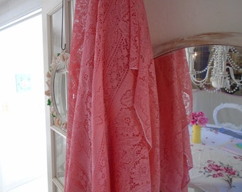 Beautiful Vintage Lace Hand Dyed Table Cloth