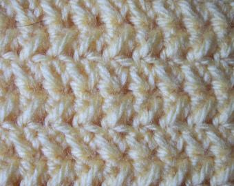 Handmade Hand-knitted acrylic yellow scarf for men or women