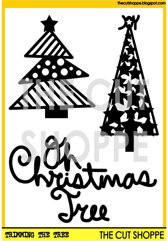 The Trimming the Tree cut file includes 3 Christmas themed icons, that can be used on your scrapbooking and papercrafting projects.