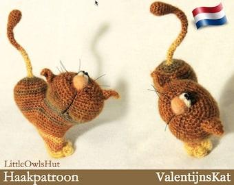 028NLY ValentijnsKat   - Amigurumi Haakpatroon - PDF by Pertseva Etsy