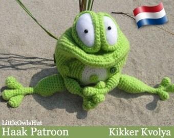 "013NLY Kikker ""Kvolya"" - Amigurumi Haakpatroon - PDF by Pertseva Etsy"