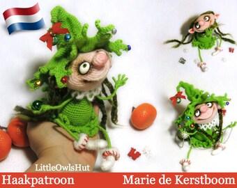 064NLY Marie de Kerstboom - Amigurumi Haakpatroon - PDF by Pertseva Etsy