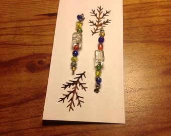 Beaded bobby pins hair accessories mixed seed beads and glass bead New Handmade