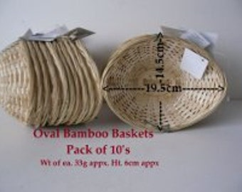Pack of Twenty Woven Wicker Baskets in Multiple Sizes - Good for Presenting gifts, Pot Pourri and so on