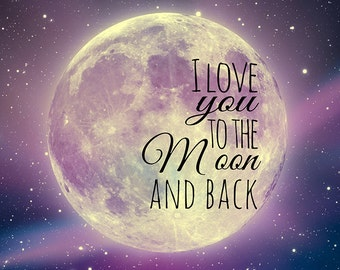 I Love You to the Moon and Back Canvas Art (12x12)