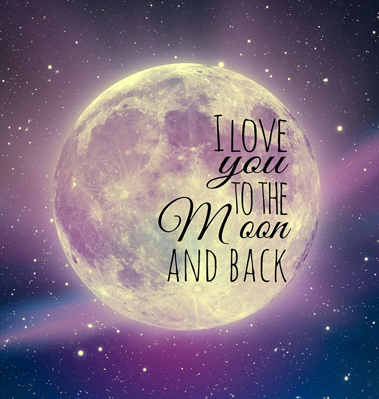 i love you to the moon and back canvas art 12x12. Black Bedroom Furniture Sets. Home Design Ideas