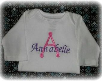 Personalized Baby Name Newborn 0/3 months Onesie Bodysuit Shirt