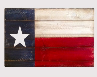 Reclaimed Wood Texas State Flag