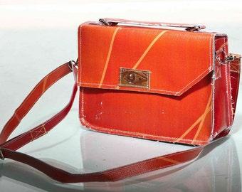 Orange Handbag repurposed  from the 2012 Olympic banners