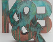 Faux Metal Letters - Antique Copper - Metal - Antique - Patina - Aged - Vintage - Industrial - Decorative - Rustic - Old - Beautiful