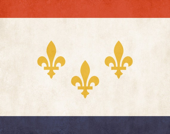 New Orleans City Flag Poster Print Louisiana By