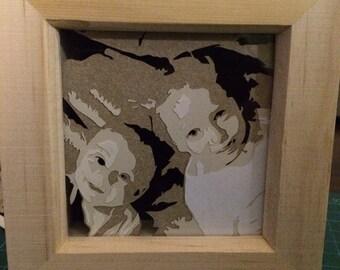 Layered Papercut Miniature Potraits
