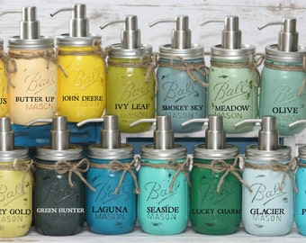 MANY COLORS! Pint Ball Mason Jar Soap Dispenser Home Decor, Housewarming Gift, Gift for her, Shower Gift, Shabby Chic