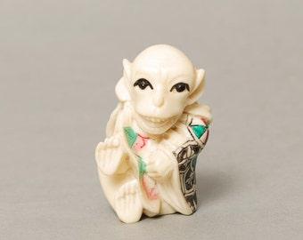 Vintage Small White Monkey, Souvenir (CI528)