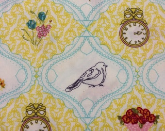 Lilly Belle Fabrics by Bari J for Art Gallery Fabrics Premier Quilting Cotton Half Yard Cut LB 1107 French Sampler Yellow