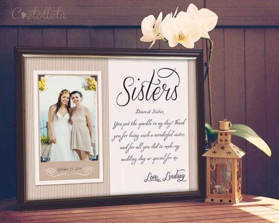 Sister Wedding Gifts: Sister Gift, Bridesmaid Gift
