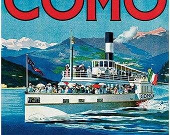 Lago Di Como Poster, Italy, Lake Como, Italian Travel Poster