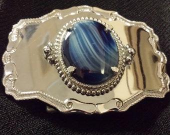 Vintage Blue Stone Belt Buckle