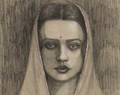 Amrita Sher-gil ORIGINAL Drawing