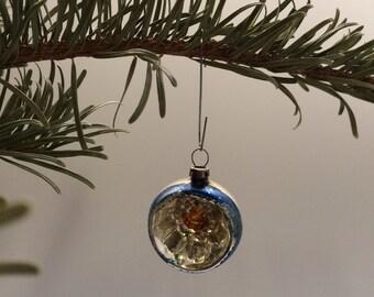Czech Bohemian Christmas Glass Ornament Ball
