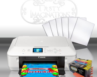 Canon Wireless Edible Printer Bundle - Includes Edible Ink & Frosting Sheets - Free Shipping