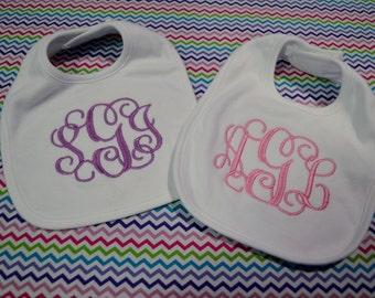Monogrammed Baby Bib