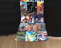 Chair retro,  desk, study, batman, spiderman superheroes enthusiasts