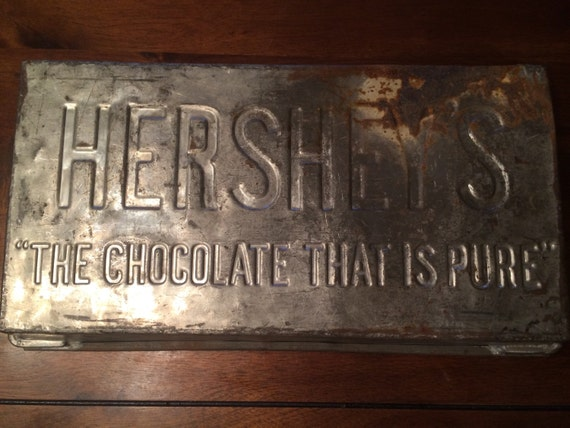 Hershey S Antique Large Chocolate Bar Mold By Recycledvision