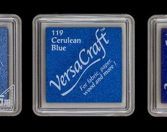 Tsukineko - set 3 VersaCraft Inkpad: sky blue, cerelean blue, ultramarine