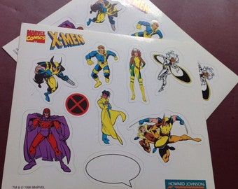 Two Sheets Of Vintage X-Men Stickers March Bonus! Buy 2, Get One Free!