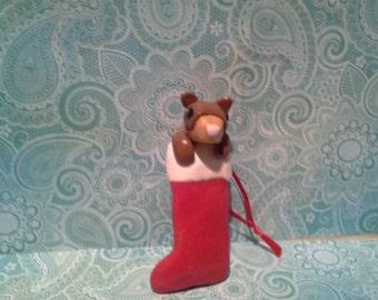 Ferret Stocking Ornament