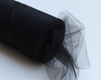 Black tulle roll - 6 inches tulle roll - 100 yard black tulle roll - Black tulle rolls - tulle rolls black - black fabric
