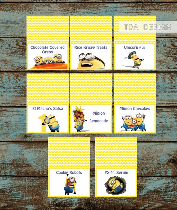 Minions Food LabelsDespicable Me Minions Birthday By TDADesign