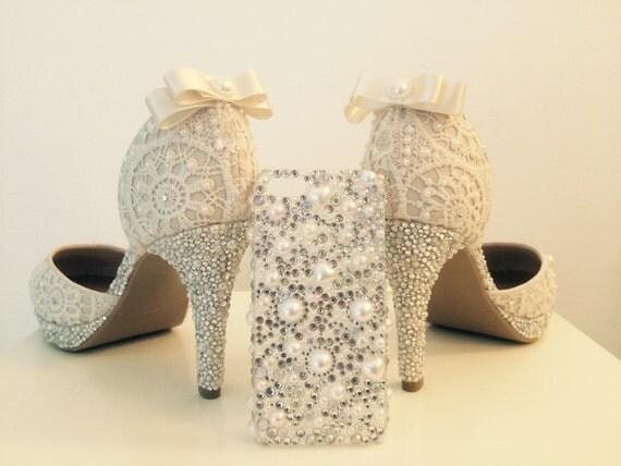 Items Similar To Bespoke Sparkly Wedding Shoes On Etsy