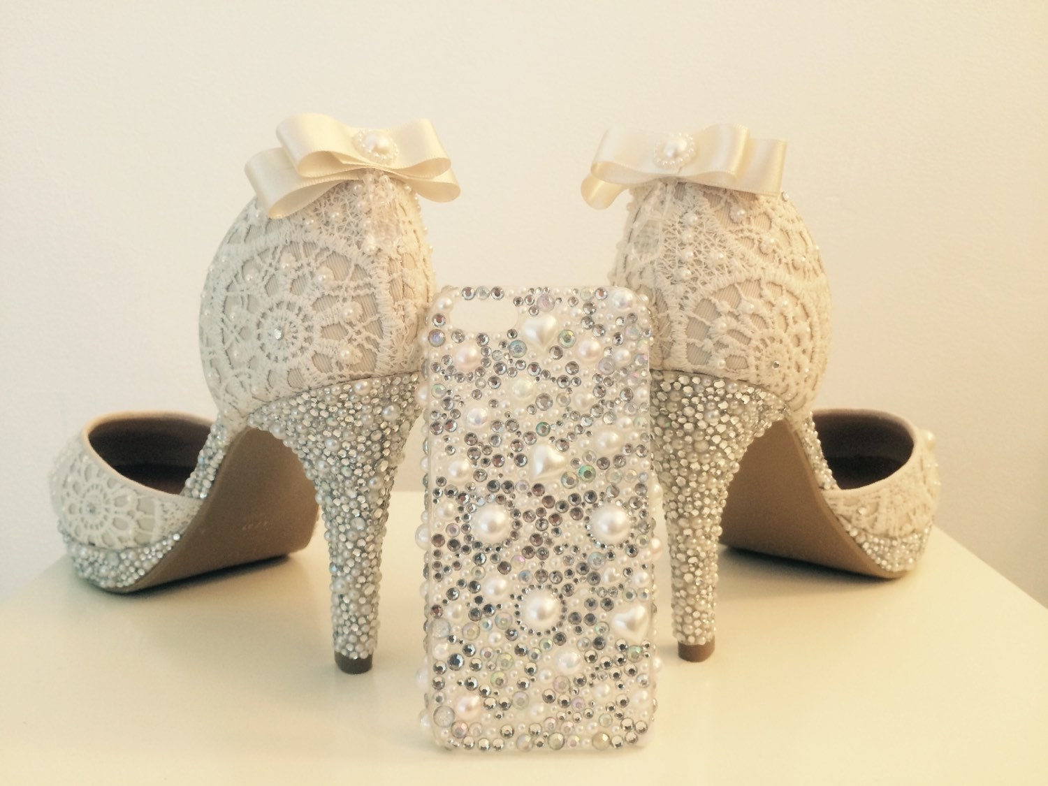 Bespoke Sparkly Wedding Shoes By CherryBlossomWales On Etsy
