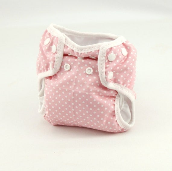 baby pink newborn cloth diaper with umbilical cord snap. Black Bedroom Furniture Sets. Home Design Ideas