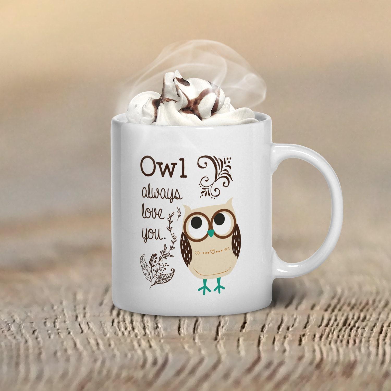 Owl Coffee Mug Owl Mug Owl Coffee Mug Gift Owl Gifts