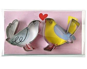 Cute Love Birds Cookie Cutters by Meri Meri