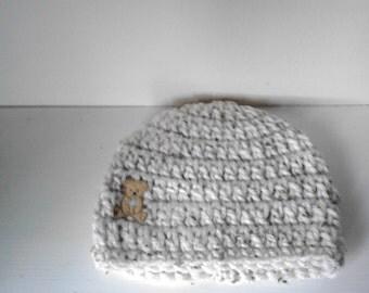 baby boy hat 3-6 months, photo prop, crochet baby hat, chunky hat, crochet beanie hat, boy beanie hat, baby beanie hat, baby hat