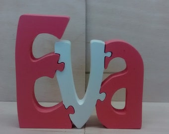 Puzzle names,puzzle,wooden letters,wooden names,words