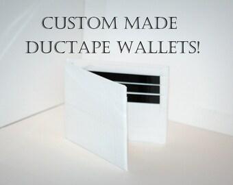 Custom Bi-fold Duct Tape Wallets - Choose Your Colors!